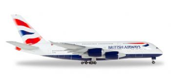 Airbus A380 BA British Airways Herpa Diecast Model Scale 1:500 524391-002 G-XLEL E